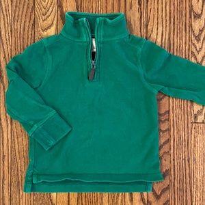Crewcuts Kelly green 1/4 zip sweatshirt 🍀